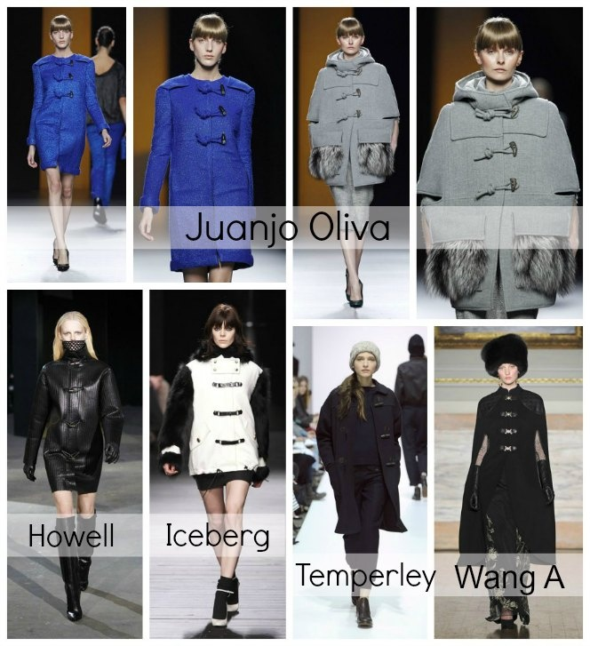 Duffle coat on the catwalk.  Trencas en la pasarela.  @Revista Online ¡HOLA!