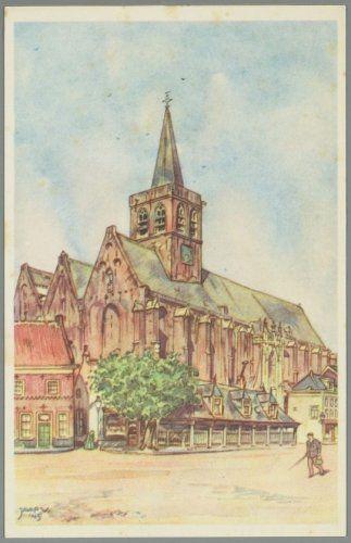 Sint Joriskerk met de Boterbeurs aan de Hof. Jaap Veenendaal