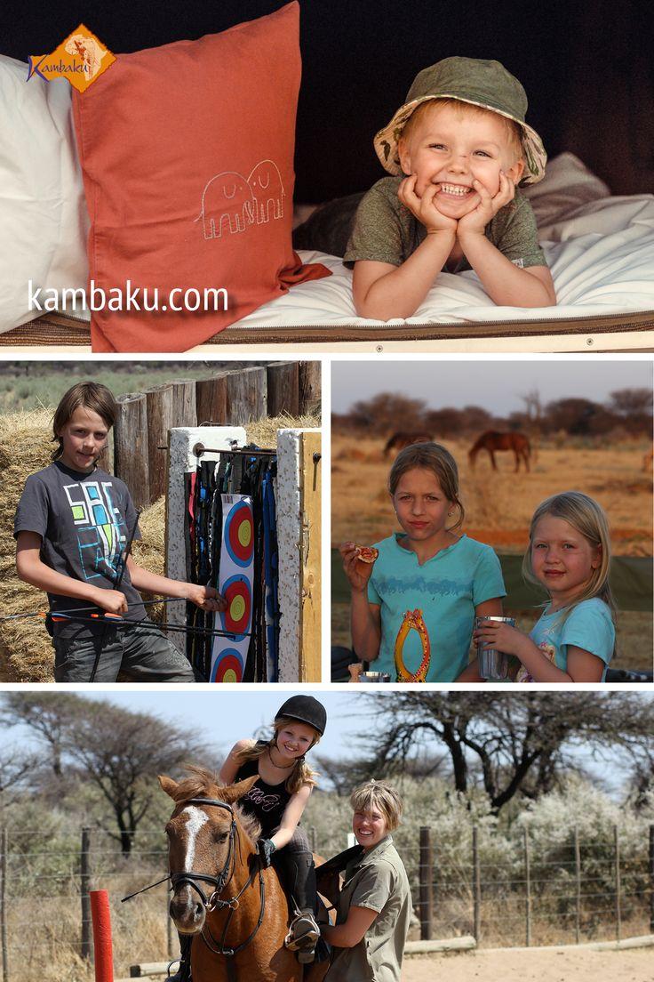 Auf der Suche nach einer familienfreundlichen Unterkunft in Namibia? Hier gehts zu einem traumhaften Familienurlaub in der Buschsavanne. Kambaku Safari Lodge  #namibia #kambaku #safari #holiday #travelwithkids #africa #lodge #travelkids #familie #kinder #urlaub #familienurlaub