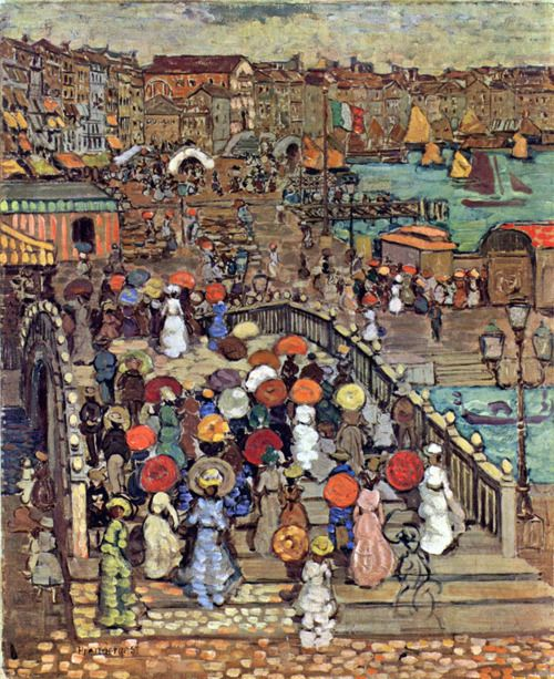 Ponte della Paglia, Venice    1898 - 1899    Maurice Prendergast was an American Post-Impressionist artist who worked in oil, watercolor, and monotype.