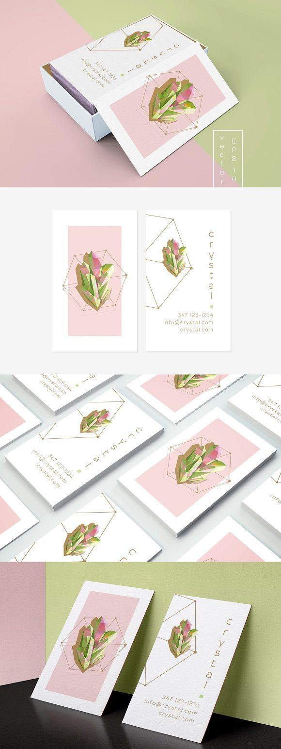 Crystal business card template by Polar Vectors on @creativemarket