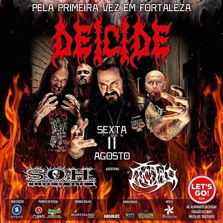 Orgulhosamente o ENCÉFALO anuncia que será uma das bandas que farão as honras de abertura do show de Fortaleza/CE para um dos maiores nomes da história do Death Metal: o norte-americano DEICIDE. O …