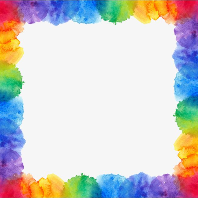 Border Hand Colour Gradient Png Transparent Clipart Image And Psd File For Free Download Colorful Borders Design Clip Art Borders Borders For Paper