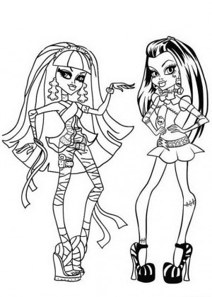 Monster High Frankie Coloring Pages. Cleo de Nile and Frankie Stein Monster High Coloring Page 177 best Pages images on Pinterest