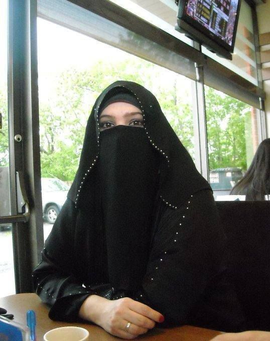 Embellished niqabi