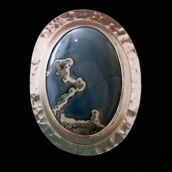 Colgante de ópalo azul de Owyhee