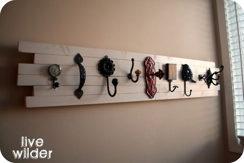 This would be awesome next to whichever door is used the most for coming and going to hang purses, scarves, bookbags, etc.