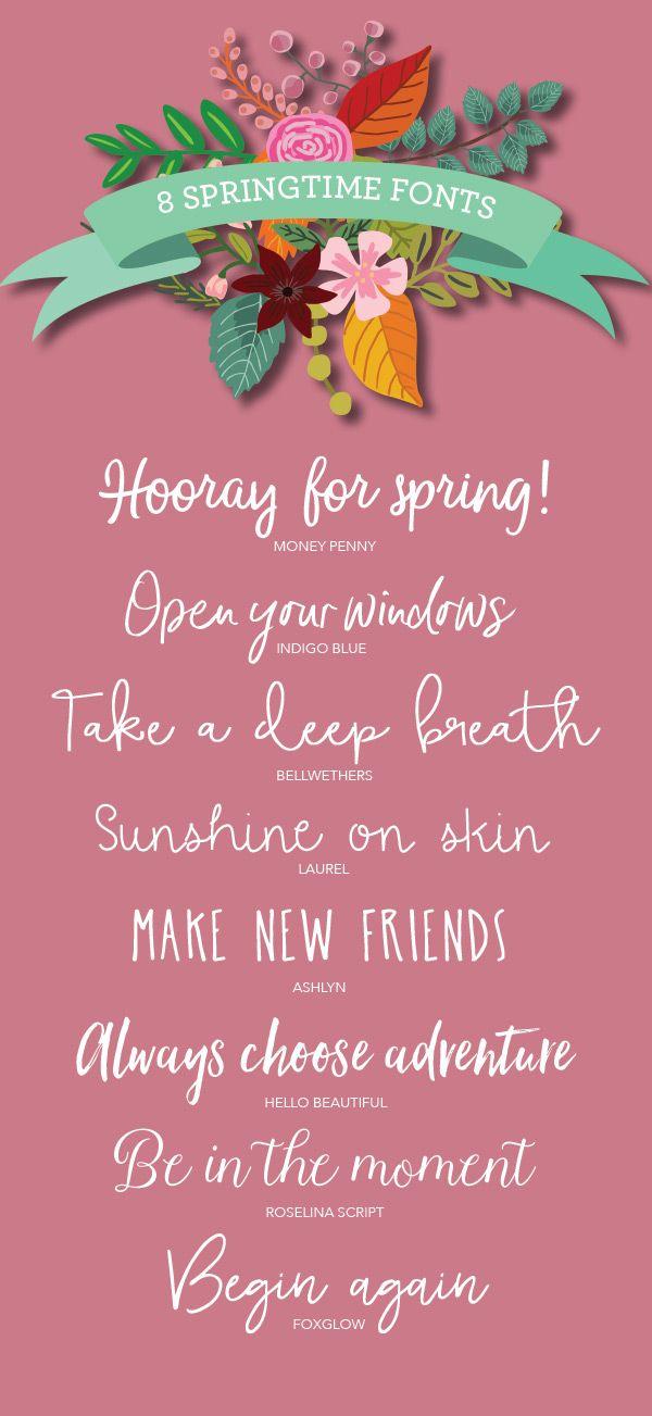 8 springtime fonts http://prettypaperthings.com/?p=6286