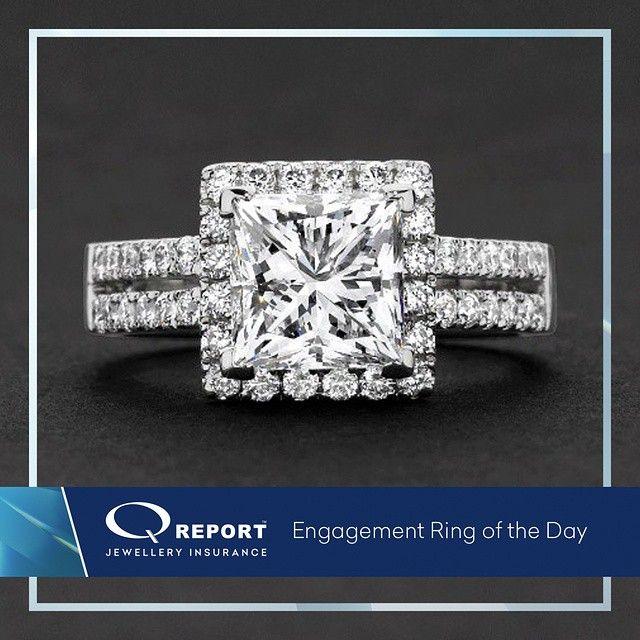 Best  ucA ct princess cut diamond with halo and split band featuring diamonds