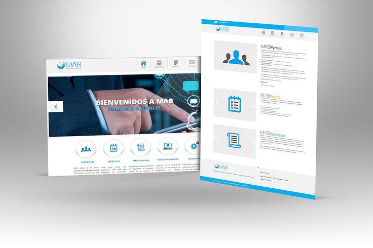 """Diseño y maquetación del sitio web """"Mab Solutions""""."""