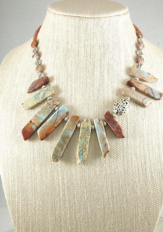 African Opal Gemstone Necklace Gemstone Necklace African