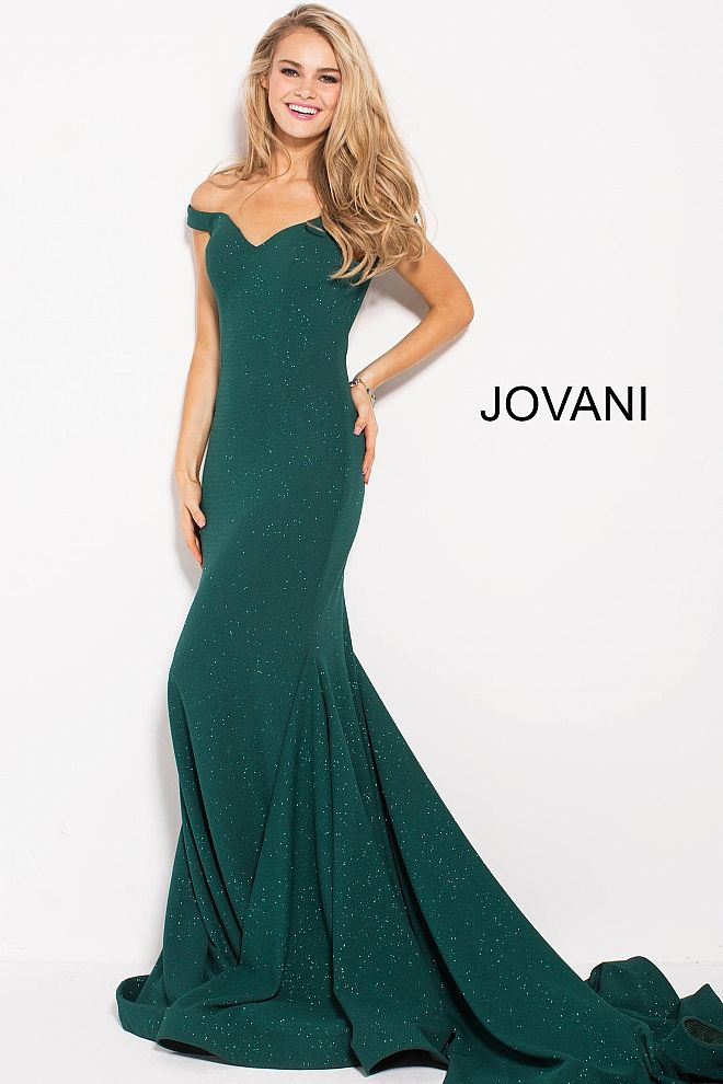 c6eaf0d74b4 Hunter Glitter Off the Shoulder Sweetheart Neck Prom Dress  55187  Jovani   PROM2018