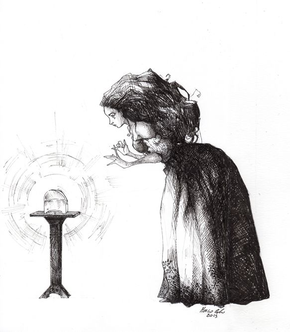 Marco Calvi- La scatola segreta ink on paper