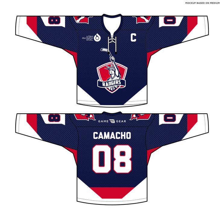 588-SUB Rangers Hockey Jersey