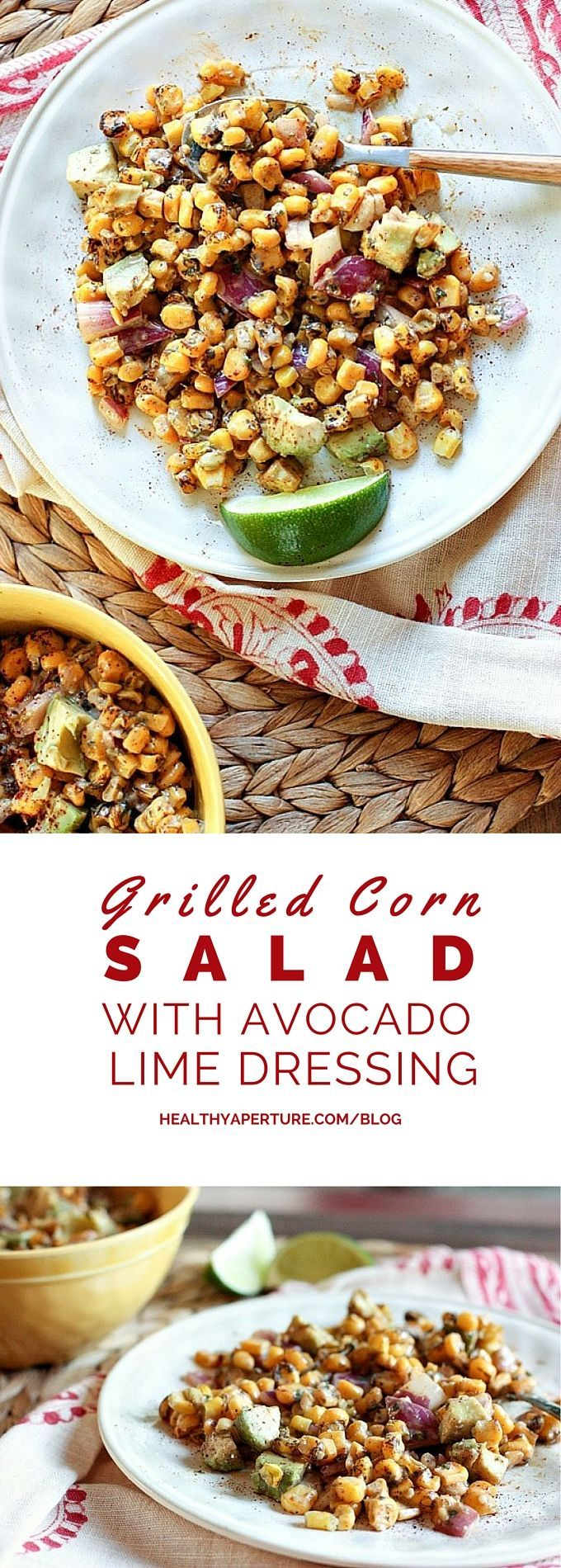 Grilled Corn Salad with Avocado with Lime Yogurt Dressing ...