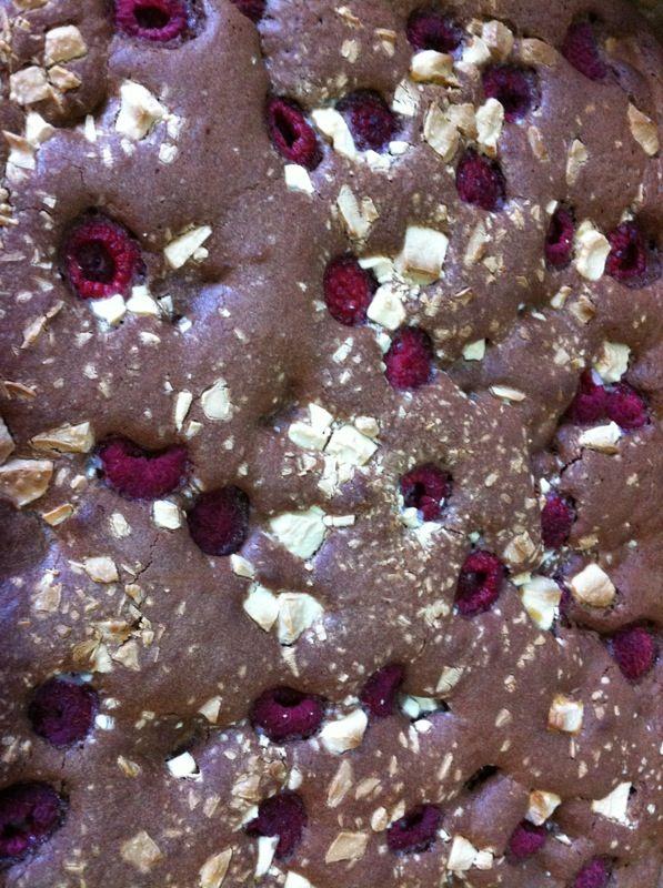 Brownie framboos witte chocolade