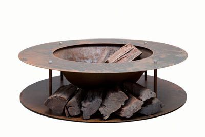 Cast Iron Wood Store Fire Pit.