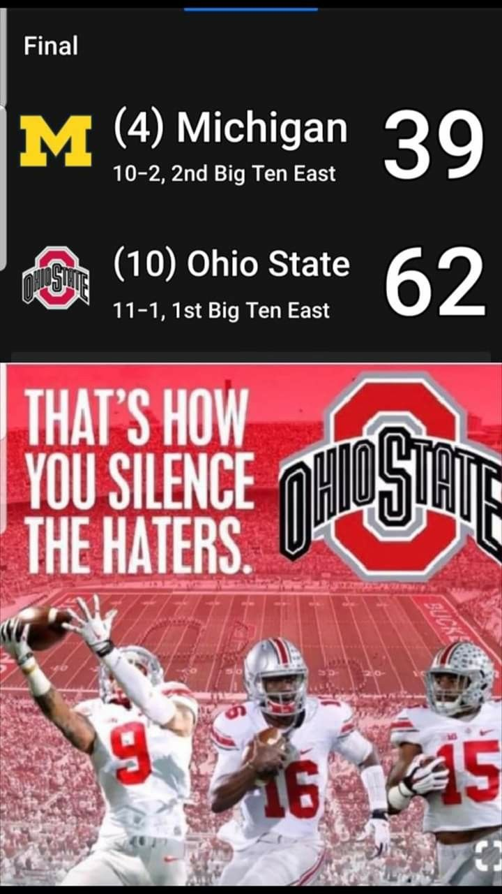 I Wish They Would Have Scored On The Last Drive And Went For 2 For Coach Woody Ohio State Vs Michigan Ohio State Michigan Ohio State Brutus