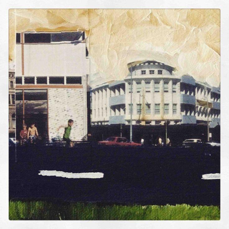 """Treadmill"" Phillip Waters mixed media on canvas"