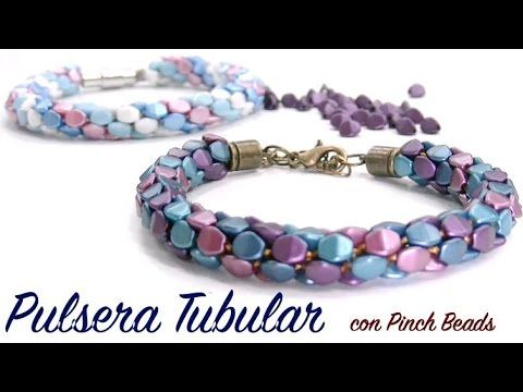 * Pulsera Tubular con Pinch Beads ~ Seed Bead Tutorials