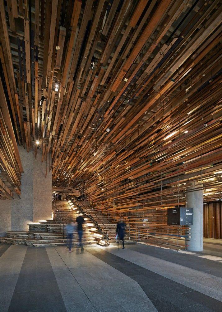 Hotel Hotel Lobby and Nishi Grand Stair Interior by March Studio (Design Team: Rodney Eggleston, Sam Rice, Julian Canterbury, Jack Crocker, Jono Ware, Haslett Grounds, Patrick Macasaet) / 25 Edinburgh Avenue, Canberra ACT 2601, Australia