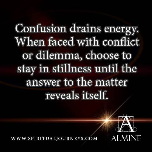 What to do when you are faced with conflict or dilemma...