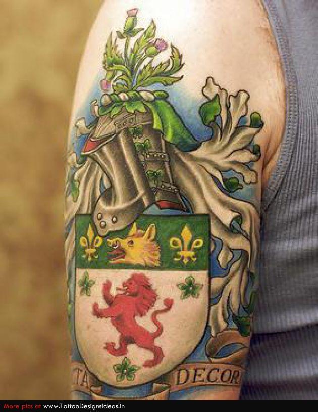 76ab00e8558c9 family-crest-coat-of-arms-tattoo #tattoo #tattoos #ink #family #crest  #coatofarms #heraldry #genealogy #shield | Coat of Arms / Crest Tattoos |  Family crest ...