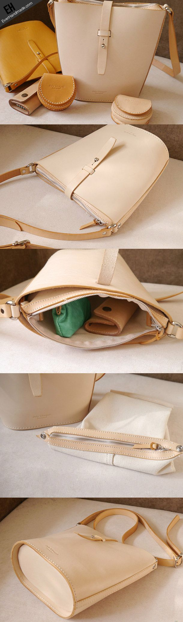 Handmade vintage busket rustic leather crossbody Shoulder Bag for girl | EverHandmade