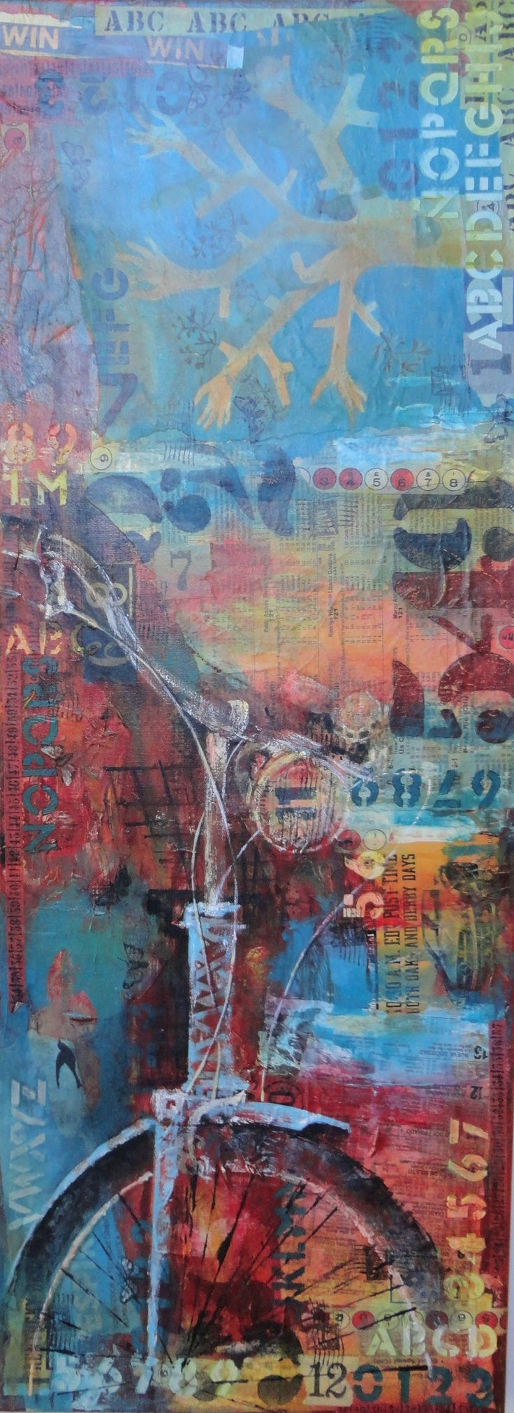 mixed media collage and paint Claudia Zubrinic