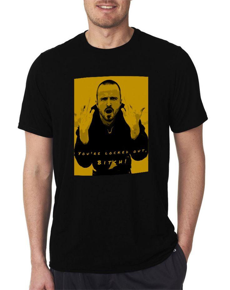 Jesse Pinkman You're Locked Out, Bitch! Breaking Bad Men's T Shirt Size S-XXL