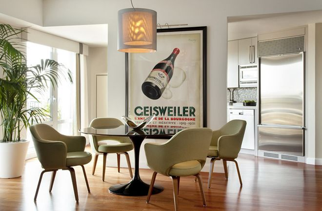 modern dining room by Eleven Interiors IDEAS FOR BLANK WALLS. LARGE ART POSTERS