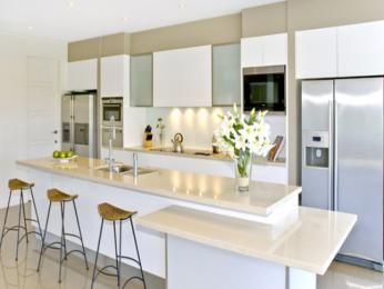 Modern island kitchen design using granite - Kitchen Photo 358191