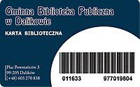 Karta biblioteczna Gminnej Biblioteki Publicznej w Dalikowie