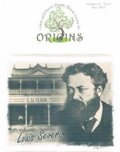 Origins cover. Journal of the Cairns & District Family History Society