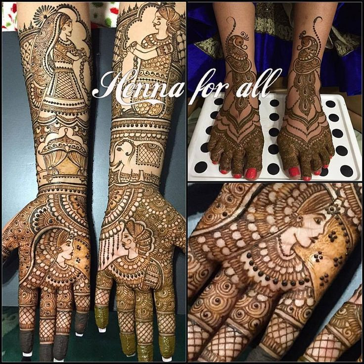Indian Bridal Mehndi by Henna for All