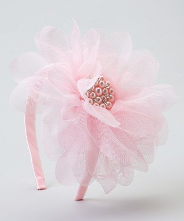 Look what I found on #zulily! Pink Pearl Tulle Flower Headband #zulilyfinds