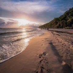 Zachód słońca nad Morzem Bałtyckim, Jastrzębia Góra