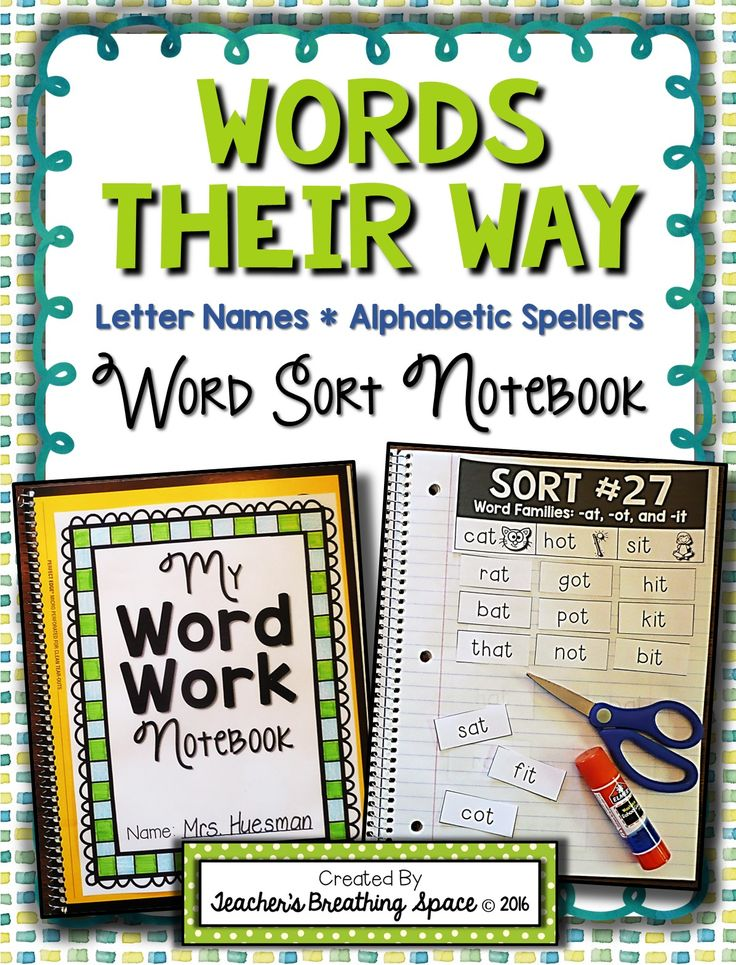 Words Their Way Word Sorting Notebook for Letter Name / Alphabetic Spellers --- Includes word sorting materials for all 50 word sorts included in the red workbook.                                                                                                                                                     More