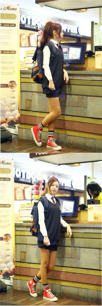 Korean girls school uniform