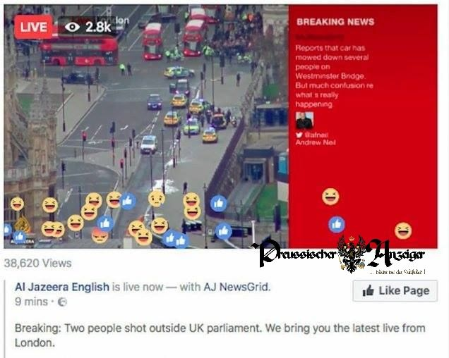 London trauert – Al Jazeera Zuschauer freuen sich  #Al Jazeera #Terror. London