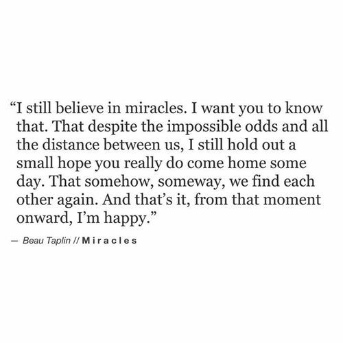 Beau Taplin | Miracles