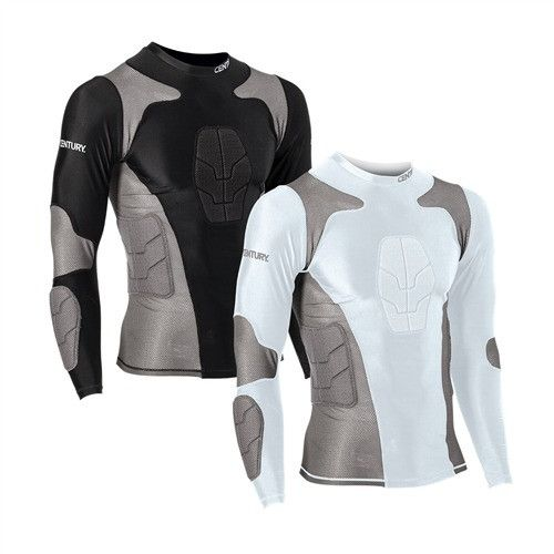 Padded Compression Shirts Adult c14244 Compression Shirt This innovative new gear can be worn underneath uniforms or on its own. Constructed of nylon and spandex with moisture-wicking capabilities, th