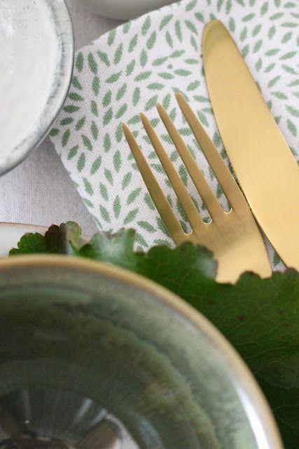 DEKORATION | Tischdekoration in nat�rlich frischem Gr�n und die Sache mit dem Trend und der Authentizit�t