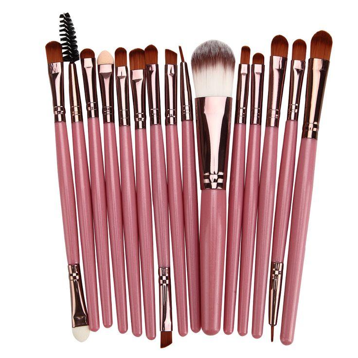 15Pcs Multifunction Makeup Brushes Set Blush Foundation Eyebrow Eyeshadow Eyeliner Lip contour Concealer Powder Brush tools kit
