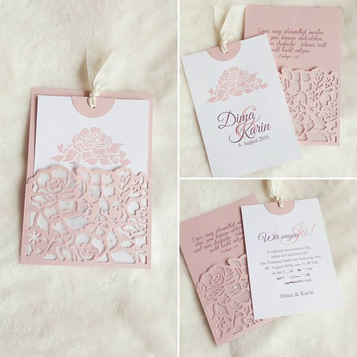 """93 Likes, 3 Comments - Oxana E. (@oxana.e) on Instagram: """"Diese wunderschöne Einladung zur Hochzeit habe ich zusammen mit der Braut gebastelt. #hochzeit…"""""""