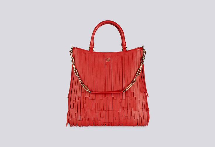 This bag is such a party: Women's Gaspar Tote: CH Collection Fall 2013 #red #fringe