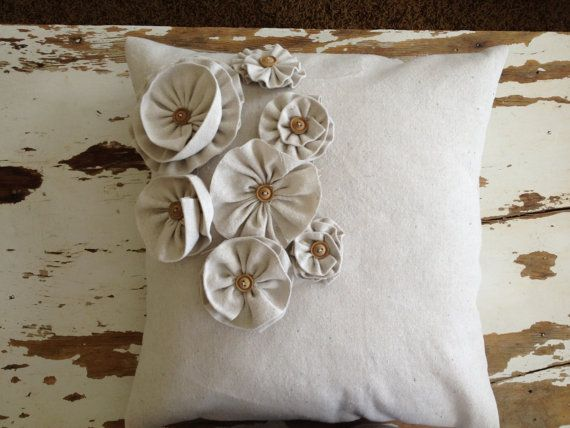 Decorative shabby chic throw pillow
