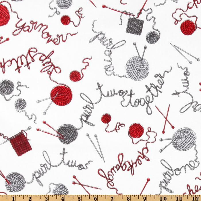 Image Result For Cotton Craft Fabric Uk Design With Knitting Needles Yarn