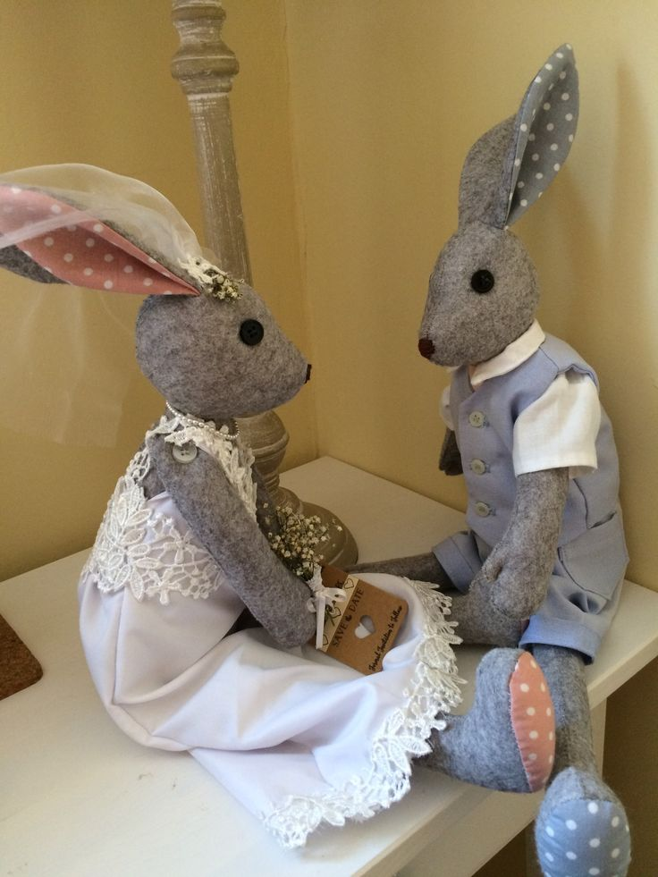 Beautiful couple from Christina Soames #coolcrafting #lunasbirthdaycompetition #lovelunalapin #cottondetail #bunnysbestfriend