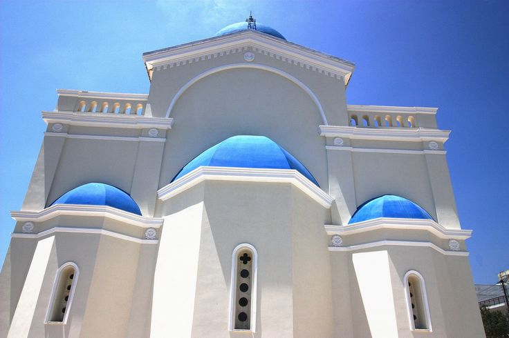 https://flic.kr/p/6zVRL2 | Blue-domed church | Blue-domed Agios Nikolaos Church, Karystos, Southern Evia